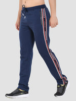 Sapper Men's Blue Cotton-lycra Full length Track pants-4