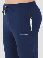 Sapper Men's Slim-fit Blue Cotton-lycra Track pants-5