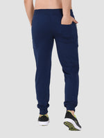 Sapper Men's Slim-fit Blue Cotton-lycra Track pants-2