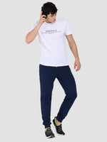 Sapper Men's Slim-fit Blue Cotton-lycra Track pants-3