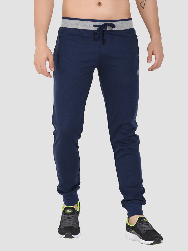 Sapper Men's Cotton-lycra Blue Track pants