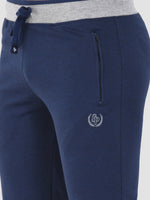 Sapper Men's Cotton-lycra Blue Track pants-5