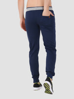 Sapper Men's Cotton-lycra Blue Track pants-2