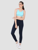 Sapper Women's Blue Slim-fit Polyester Lycra Track Pants-3