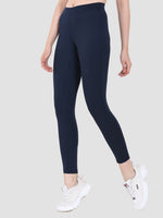 Sapper Women's Blue Slim-fit Polyester Lycra Track Pants-4