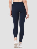 Sapper Women's Blue Slim-fit Polyester Lycra Track Pants-2
