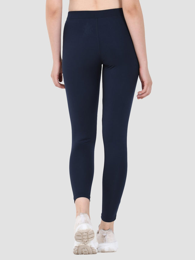 Sapper Women's Blue Slim-fit Polyester Lycra Track Pants