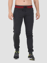 Sapper Men's Cotton-lycra Grey Track pants