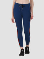 Sapper Women's Cotton Blend Blue Track Pants