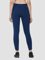 Sapper Women's Cotton Blend Blue Track Pants-2