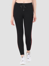 Sapper Women's Cotton Blend Black Track Pants
