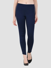 Sapper Women's Blue Viscose Jeggings