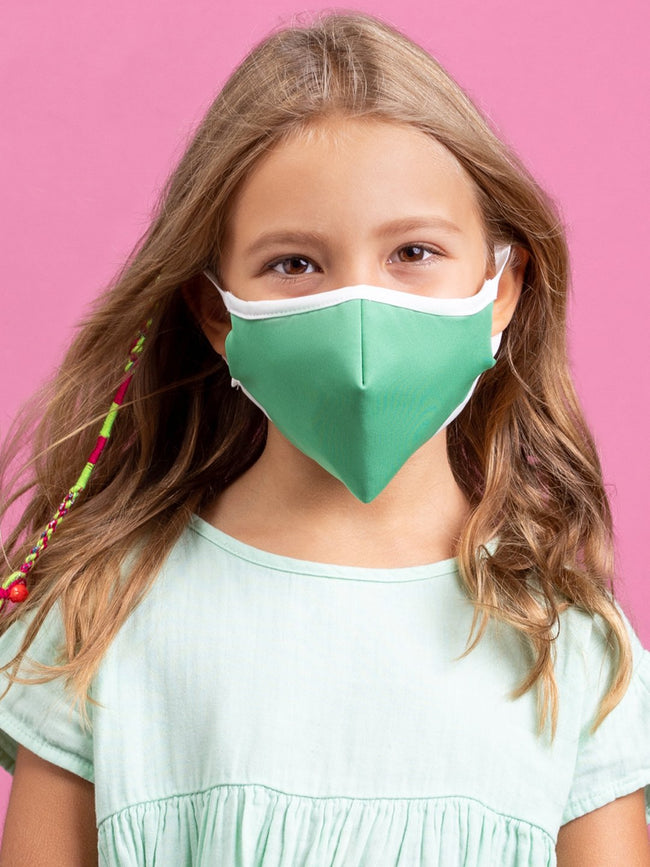 Anti-Viral Green KIDS Mask (kills 99.99% Covid-19 virus on contact*)