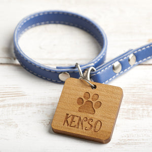 Dog Tag - Personalised Wooden Pet, Dog, Cat Identification, ID, Name Tag