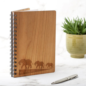 Notebook Planner - A5 Travel Note Book, Journal - Elephant Design