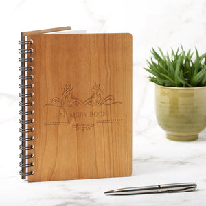 Notebook Planner - A5 Memorial Service Guest Book - Memory Design