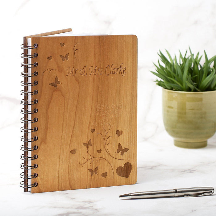 Personalised A5 Wedding Guest Book, Journal or Planner - Butterfly Design