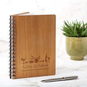Notebook Planner - Personalised A5 Recipe Cook Book - Drinks Design