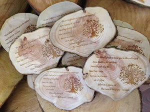 Wedding Invite - Personalised Rustic Wooden Wedding Invitation (Set Of Four) 070
