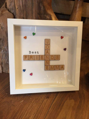 Personalised Wooden Scrabble Frame 108