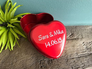 Metal Heart Shaped Trinket Box 030