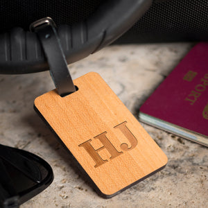 Personalised Wooden Luggage - Two Initials