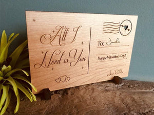 Post Card - Personalised Wooden Postcard 104