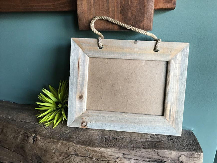 Personalised Rustic Wooden 7 x 5 Photo Frame 066