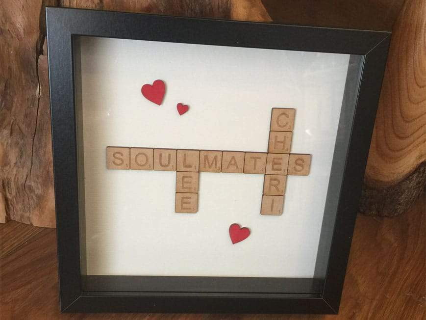 Personalised Wooden Scrabble Frame