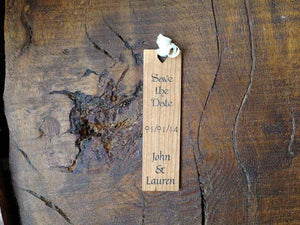 Book Mark - Personalised Wooden Save The Date Bookmark 105