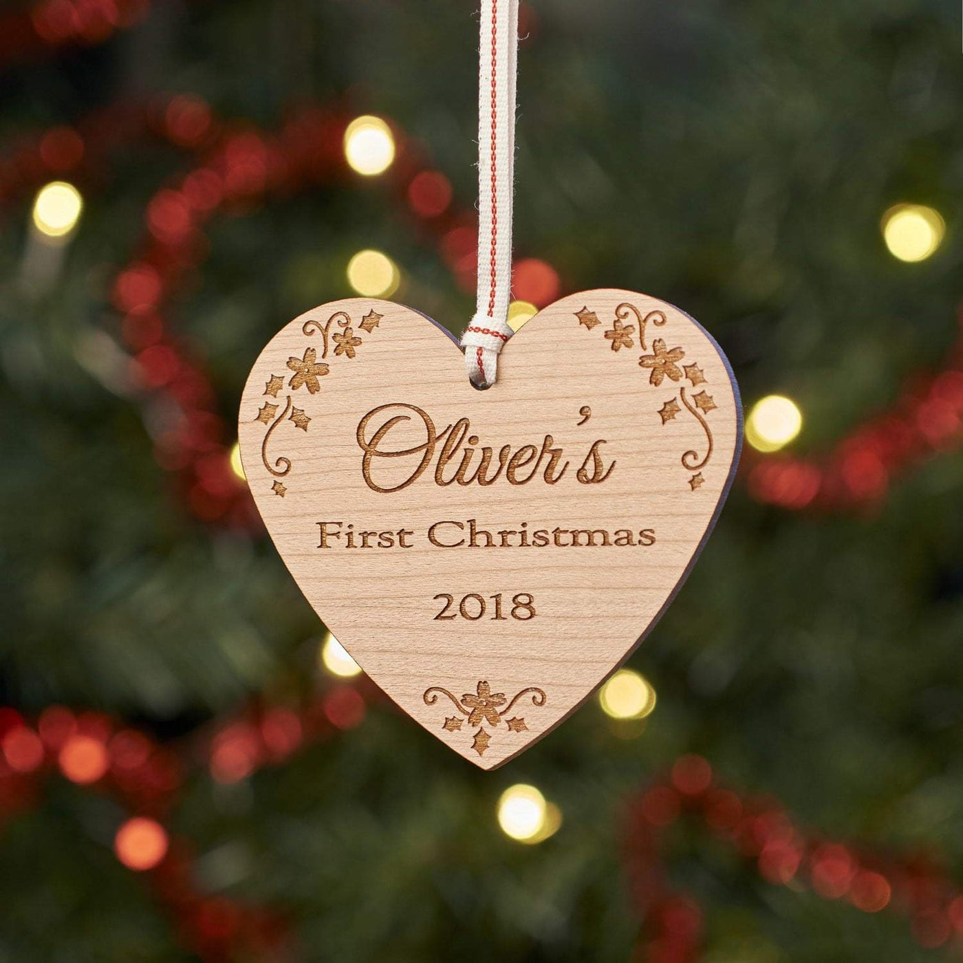 best website 95256 7decc Personalised Baby First Christmas Tree Decoration
