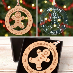 Christmas Decoration - Personalised Gingerbread Man Christmas Tree Decoration