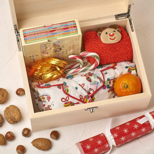 Christmas Eve Box - Wooden Personalised Christmas Eve Box - Santa Village