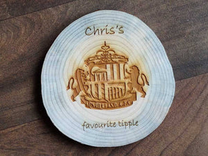 Coaster - Personalised Natural Wooden Coaster (Single) 061