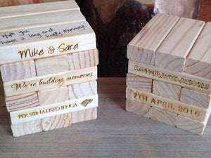 Guest Book - Giant Personalised Jenga Style Wedding Guest Book