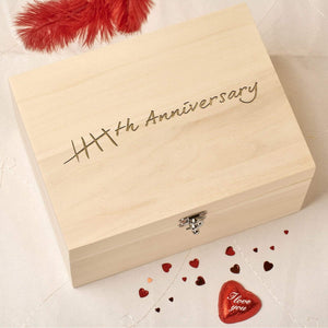 Keepsake Box - 5th Wedding Anniversary Keepsake Box - Tally Design