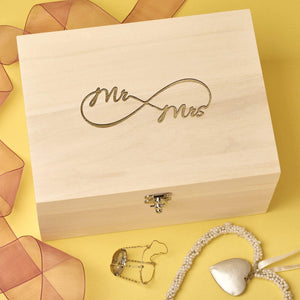 Keepsake Box - Couples Infinity Keepsake Memory Box