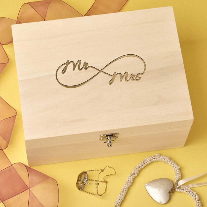 Couples Infinity Keepsake Memory Box