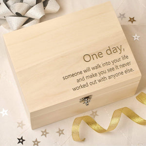 Keepsake Box - Personalised Wooden Keepsake Box - Favourite Quote
