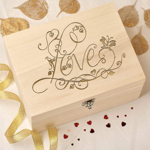 Keepsake Box - Personalised Wooden Keepsake Box - Love