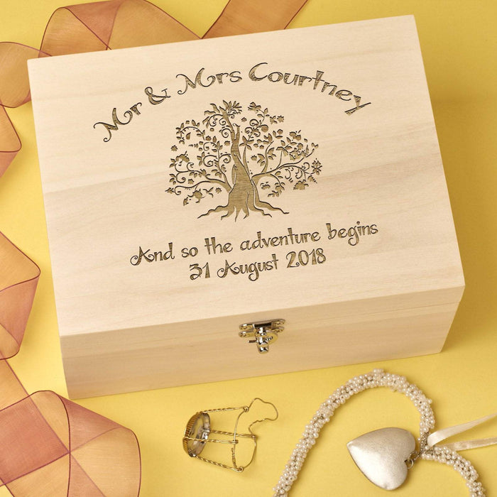Wedding Keepsake Box Personalised - Tree Design