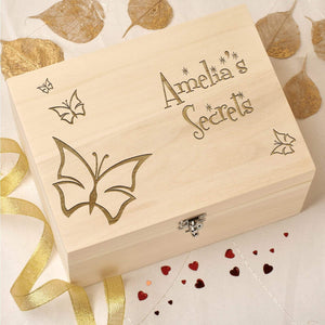 Keepsake Box - Wooden Keepsake Box - Personalised With Your Own Design And Text