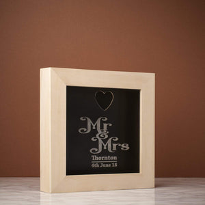 Memory Box Frame - Mr And Mrs Memory Box Frame