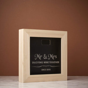 Memory Box Frame - Mr & Mrs Enjoying Since Memory Box Frame