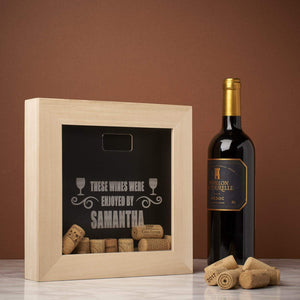 Memory Box Frame - Wine Enjoyed By Memory Box Frame