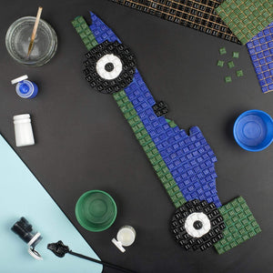 Mosaic Kit - Mosaic Art Kit - Blue Racing Car