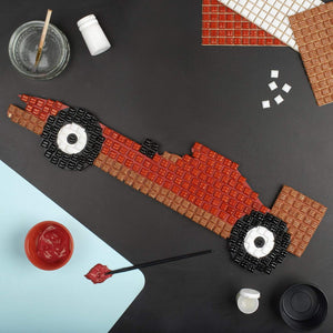 Mosaic Kit - Mosaic Art Kit - Red Racing Car