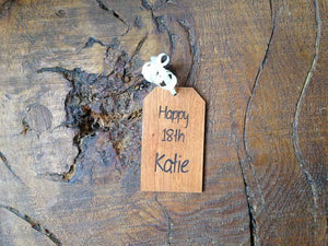 Gift Tag - Personalised Wooden Gift Tag 081