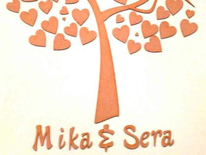 Guest Book - Personalised Wooden Tree Wedding Guest Book - MDF 112