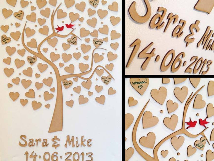 Personalised Wooden Tree Wedding Guest Book - MDF 112